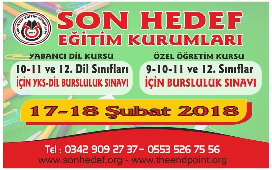 SON HEDEF EĞİTİM KURUMLARI BURSLULUK SINAVI KAYITLARI BAŞLADI!